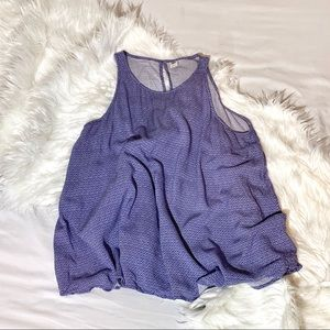 Purple Printed High Neck Old Navy Tank Top